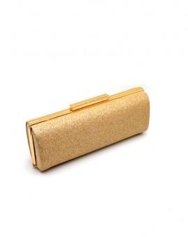 βραδινό τσαντάκι χρυσό με γκλίτερ
