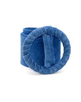 γυναικεία ζώνη δέρμα καστόρ μπλε