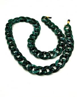 κοκκάλινη αλυσίδα γυαλιών πράσινη