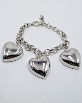 Βραχιόλι big silver heart