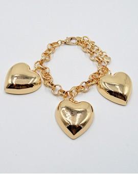 Βραχιόλι big gold heart