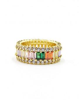 Colorful strassy ring