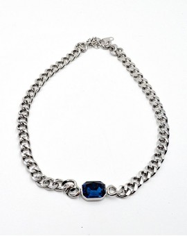 Κολιέ Blue gem Chain