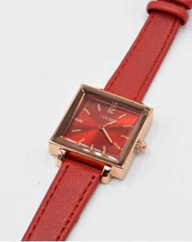 Γυναικείο τετράγωνο ρολόι Κόκκινο