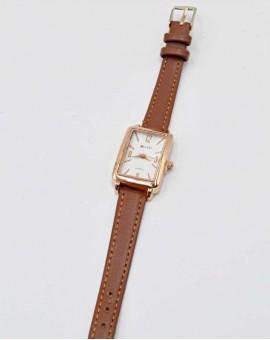 Γυναικείο ρολόι rectangle ταμπά