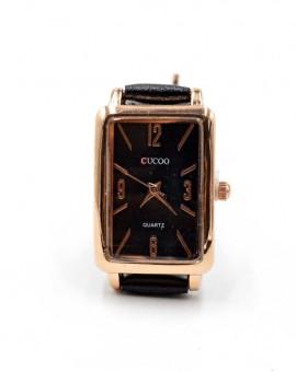 Γυναικείο ρολόι rectangle μαύρο