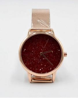 Γυναικείο ρολόι strassy red