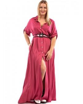 Safari Shirt Dress Dusty Pink