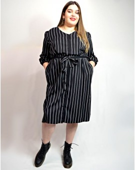 London Shirt Dress black