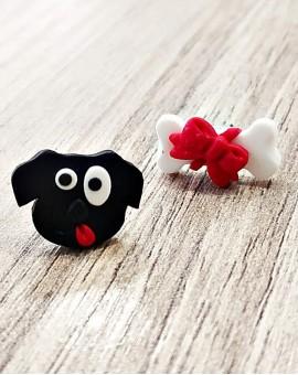 σκουλαρίκια dog loves bone
