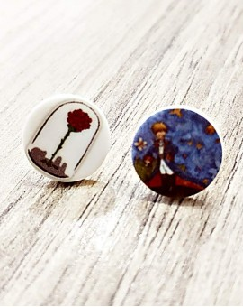 σκουλαρίκια le petit prince-button