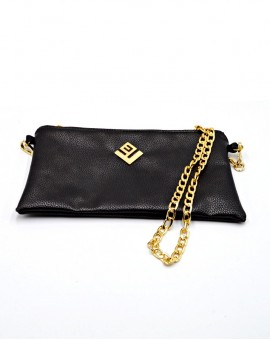 τσάντα ώμου Elegant Hobo Handbag Black