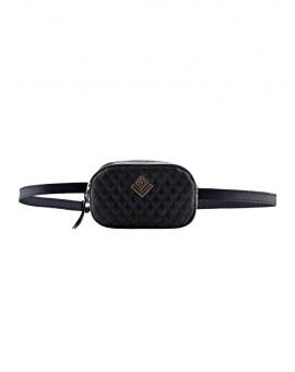 Τσάντα μέσης capitone black
