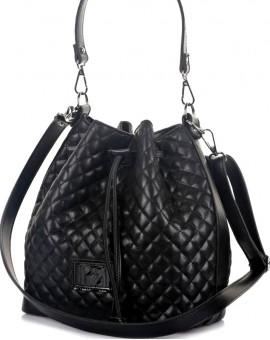 Γυναικεία Τσάντα πουγκί Μαύρο Καπιτονέ TS126
